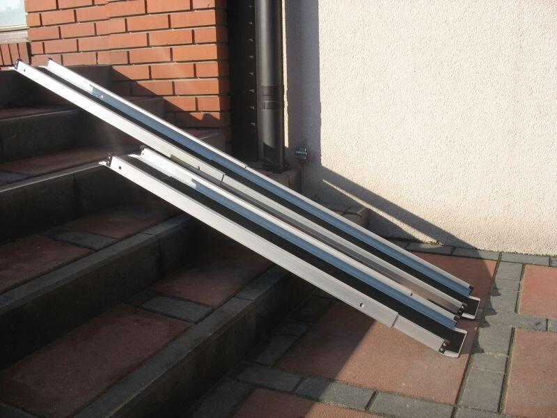Szyny teleskopowe aluminiowe 213 cm