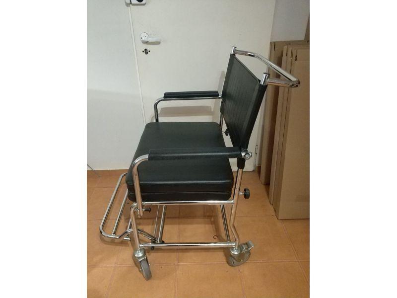 Wózek krzesło toaletowy transportowy XXL - szerokość 60 cm
