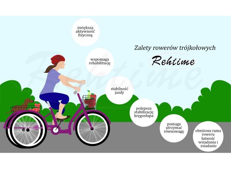 Rower Trójkołowy Rehtime Emka z napędem na dwa koła