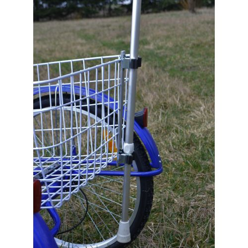 Uchwyt na kulę łokciową do roweru trójkołowego